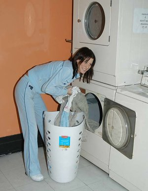 Laundry doing hotty