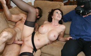 Buxomy Brown-haired Wifey Undresses & Cheats on..