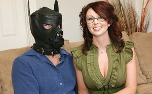 Cool Huge-chested Wifey Plows In Front of Husband