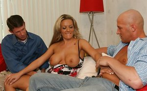 Torrid Blond Wifey Deep-throats Another Man's..
