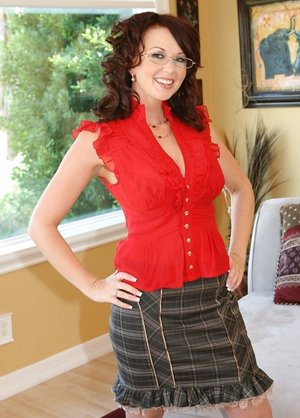 Big-chested Black-haired Wifey Undresses &..