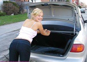 Lovely light-haired hitchhiker